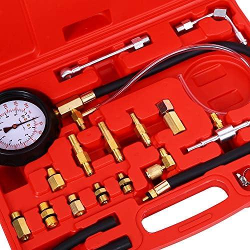 Öldruckmesser Benzindruck Tester Dieselkraftstoff-Manometer Druckprüfer Satz KFZ