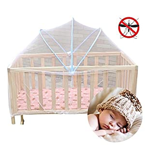 Sealive Foldable Baby Kids Infant Nursery Bed Crib Canopy Safty Arch Mosquito Net Netting Play Tent House(Not Included Bed/Mats/Bed Linings/Other Things)