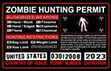 United States US Zombie Hunting License Permit Red - Biohazard Response Team Automotive Car Window Locker Bumper Sticker