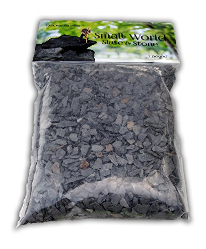 Natural Slate Stone - 1/8 to 1/4 inch Slate Gravel for Miniature or Fairy Garden, Aquarium, Model Railroad & Wargaming 1lb by Small World Slate & Stone (Image #4)