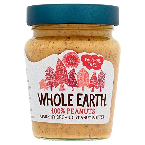 Whole Earth Organic Crunchy Palm Oil Free Peanut Butter - 227g (0.5lbs)