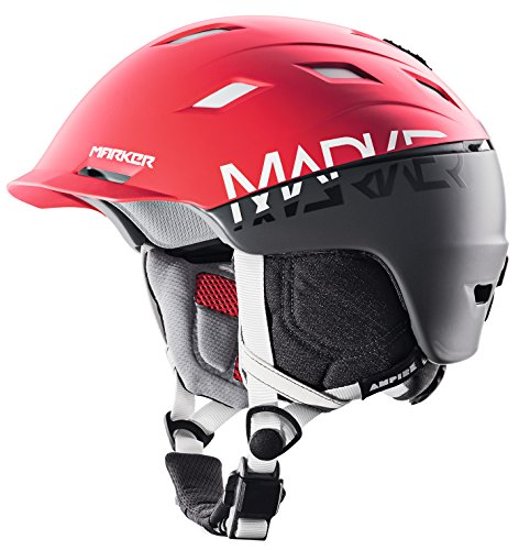 Marker Ampire Helmet 2BLock Red/Steel Grey, M by Marker