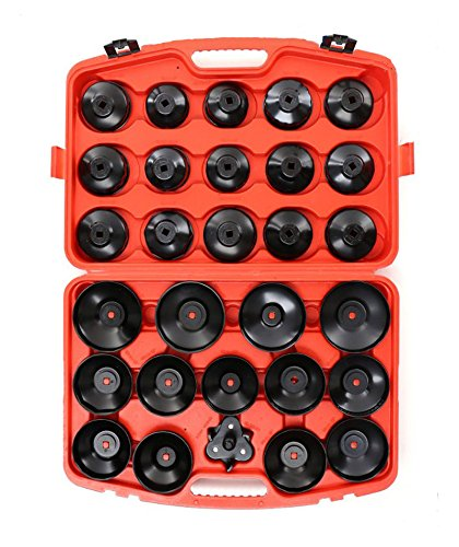 Cap Wrench Socket Tool Set Cap Type Oil Filter Wrench Socket Car Garage Tool by Techtongda (Image #1)