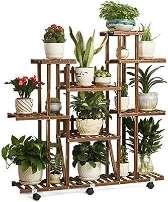 Estantes para plantas / estanteria jardin Soporte de flor de madera Soporte de exhibición de múltiples plantas