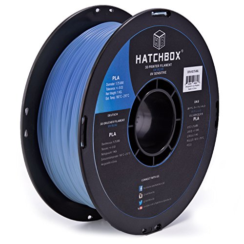 HATCHBOX PLA 1KG1 75 UVBLU Changing Filament Dimensional