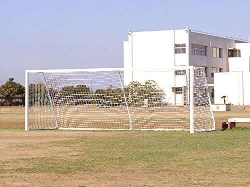 ランバスサッカーゴールネット 一般用 オフホワイト 2枚組 日本製 B01JLEOC8G