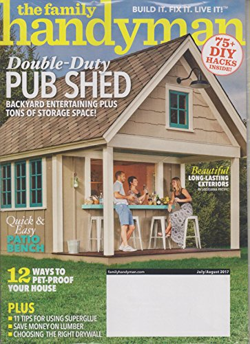 The Family Handyman July/August 2017 Double Duty Pub Shed