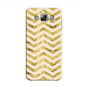 Cover It Up - Gold Pink Tri Stripes Galaxy E5 Hard case