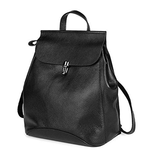 Color Schoolbag Boys for Travel Women Backpack GUBENM Bag Girls Deep for Solid Quality Casual Backpack Student Shoulder Blue Teenagers Leather Rucksack fxSpqtapw