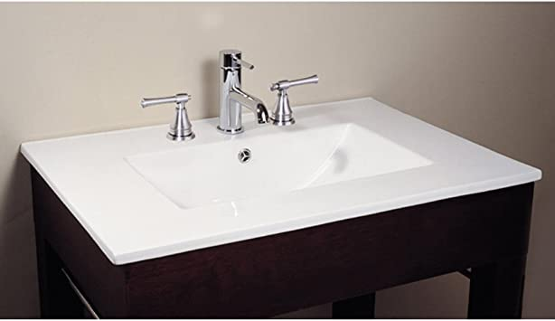 49 In Vitreous China Top With Integrated Bowl 8 Holes Bathroom Sinks Amazon Com