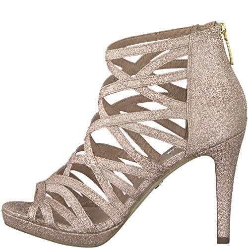 Femme Sandales Chaussures Haut À 22 Rose Tamaris D'été 1 Talon m0wOyvNn8P