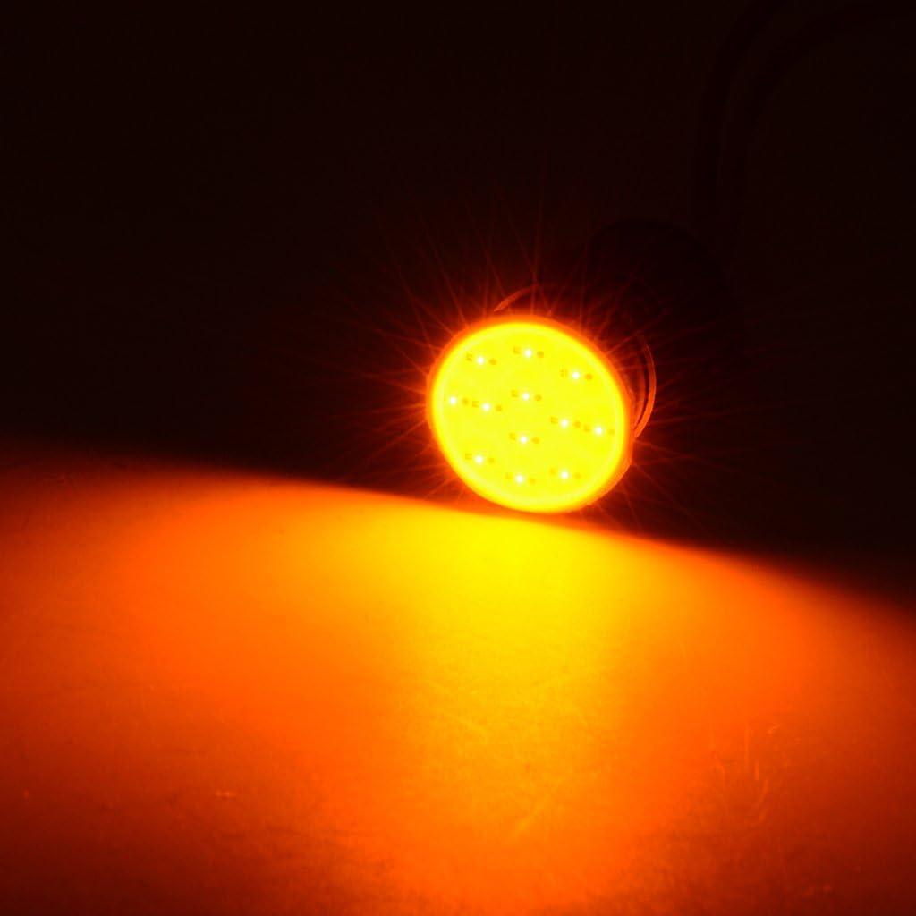 with DC 12v Flasher Relay Fix Yellow 7 Colors Optional Shiwaki 4pcs Motorcycle LED Turn Signal Lights COB Chip High Brightness Lamp Bulbs