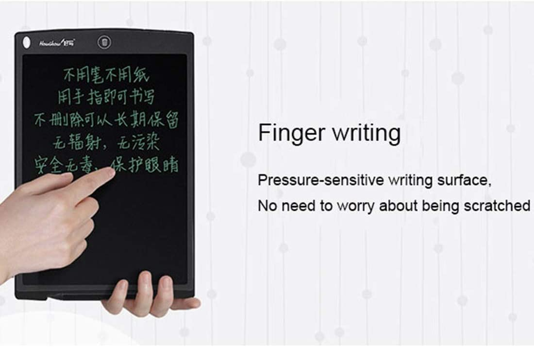 Black Color : Black Professional Painting Howshow 12 inch LCD Pressure Sensing E-Note Paperless Writing Tablet//Writing Board