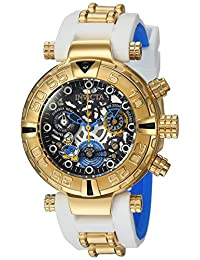Invicta Women Disney Chrono 200m Gold Tone Stainless Steel Silicone Watch 24512
