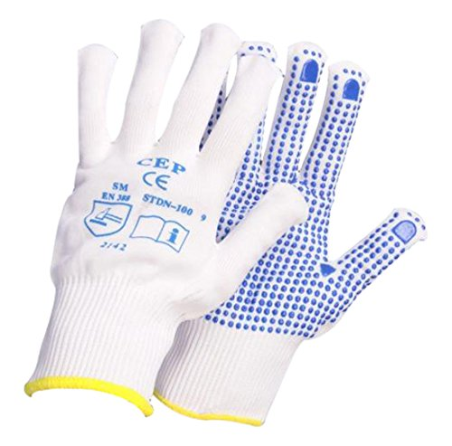 Pro-Tough 0136 Knitted Nylon Polka Dot Gloves Size 7 (12 Pair) Prossor 0136 - 7.0