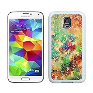 Hot Sell Design Colorful Christmas snowflake White Samsung Galaxy S5 Case 1