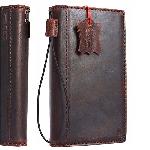 Genuine Italy Oil Leather Case for Iphone 6s Plus Book Wallet Handmade Business Handmade S 6 plus Daviscase (Iphone 6 Cases Canada)