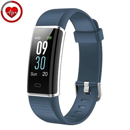 YAMAY Pulsera de Actividad Inteligente con Pulsómetro, Impermeable IP68 Smartwatch con 14 Moda Deportiva, Podómetro Pulsera Inteligente para Mujer ...