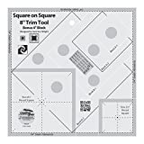 Creative Grids Square on Square 8'' Trim Tool Quilting Ruler Template cgrJAW8