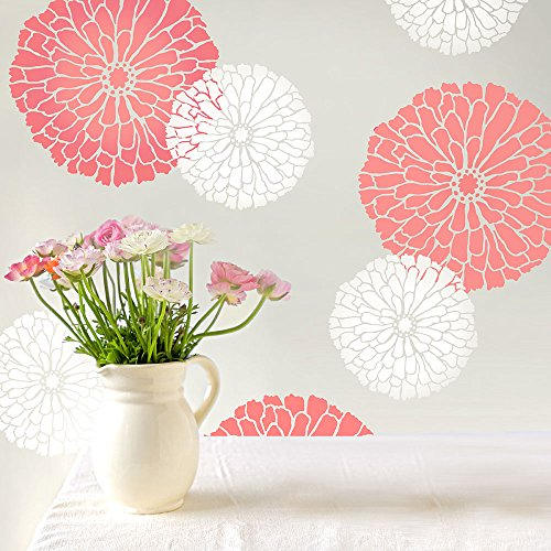 Summer Blossom Flower Wall Stencil - Small - Reusable Stencils for Walls - DIY Home Decor - By Cutting Edge Stencils
