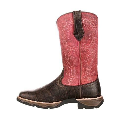 Lady Rebel by Durango Womens 11 Gator Embossed Lt Western Boot-DRD0147 HRbub