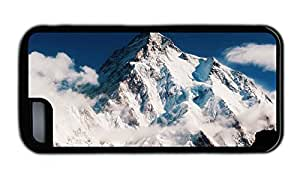 Funny pretty iphone 5C covers The beautiful scenery of snow capped mountains and white clouds TPU Black for Apple iPhone 5C