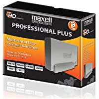 Maxell Professional Plus 3TB Multi-Interface External Hard Drive