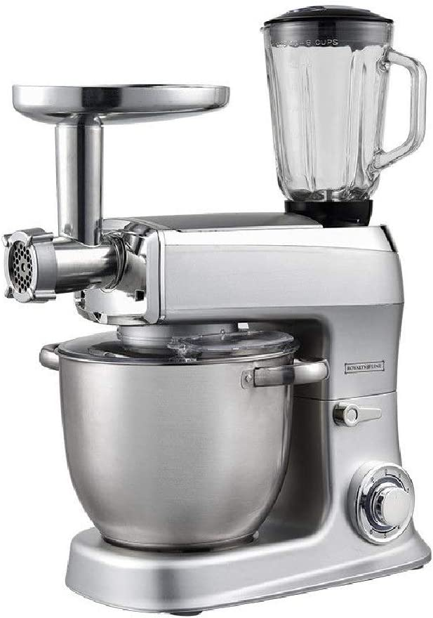Amasadora 3 en 1 planetaria batidora Royalty 2100 W robot picadora cocina 7,5 l: Amazon.es: Hogar