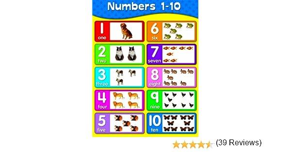 Common Worksheets » 1-10 Number Chart - Preschool and Kindergarten ...