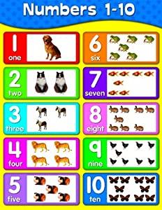 Printables 1 To 10 Numbers amazon com carson dellosa numbers 1 10 chart 114059 114059