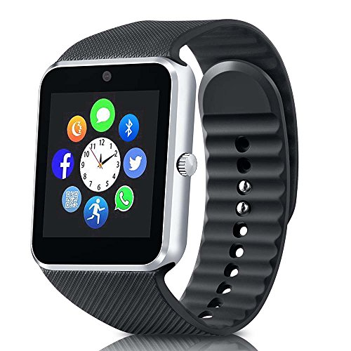 Bluetooth Smart Watch Support SIM Card, Fitness Tracker Watch for Pedometer Sleep Monintor, Unisex Wrist Watch for Android Samsung Iphone by ANCwear ENKE-smart