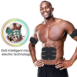 Fitvc Abdominal Muscle Trainer -Abdominal Muscle Toner EMS Abs Toner Trainer Toning Gym Workout Muscle Exercise Fitness Equipment for Abdomen/Arm/Leg Training Men & Women