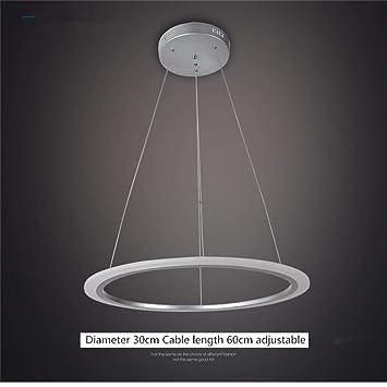 BCX Chandelier- Chandelier Dining Lounge Pole Line Ring Línea de Personalidad Artística Iluminación Led,