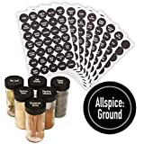 """AllSpice 315 Preprinted Water Resistant Round Spice Jar Labels Set 1.5""""- Fits Penzeys and AllSpice Jars- 4 styles to…"""