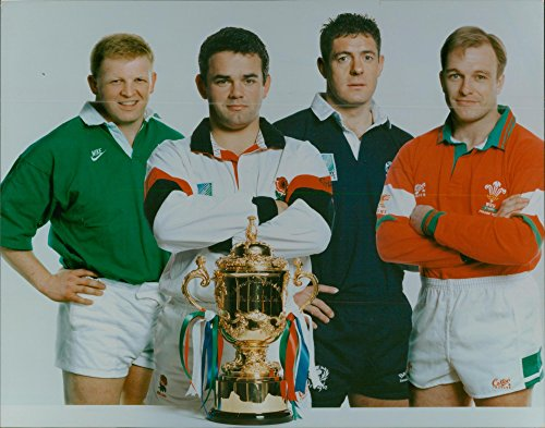 Vintage photo of 1995 Rugby World Cup (will carling)