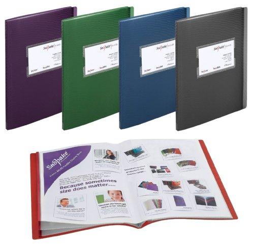 Snopake Fusion Sichtbücher, Fächer für 20 A4- oder 40 A5-Blätter, 5Stück sortiert