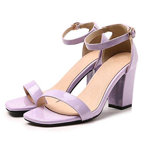 8 5 Cm Colors JOJONUNU Bloc Purple 8 Talons Femmes Sandales nCnwHY7q