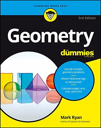 Geometry For Dummies Mark Ryan 9781119181552 Amazon Books