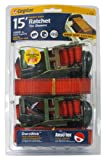 CargoLoc 84012 Ratchet Tie Downs with J-Hooks, 1-Inch x 15-Feet, 2-Piece