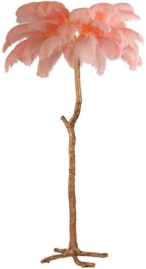 WANGIRL Lámpara de Pie Plumas de Avestruz de Rama de Árbol Moderno ...