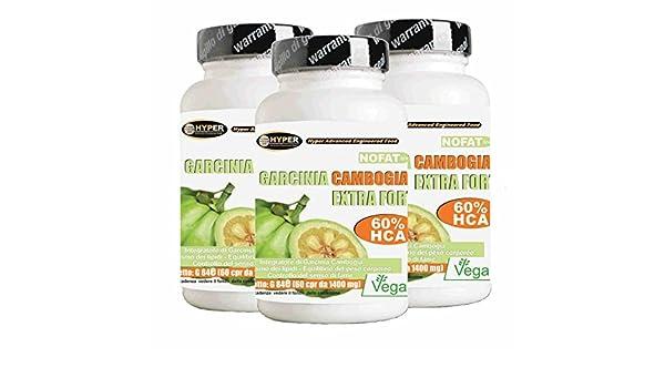 Garcinia Cambogia extra fuerte | Quemador de grasa - promueve la pérdida de peso | píldoras gratis titular 3 BOX x 60 tabletas | 1000 mg por tableta!