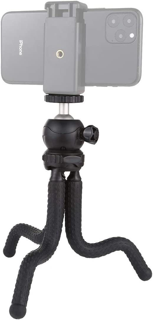 GuiPing Mini Octopus Flexible Tripod Holder with Ball Head for SLR Cameras Size: 25cmx4.5cm Durable Cellphone GoPro
