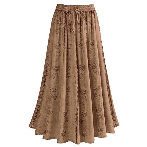Women's Over-Dyed Maxi Skirt - Elastic Waistband - 33