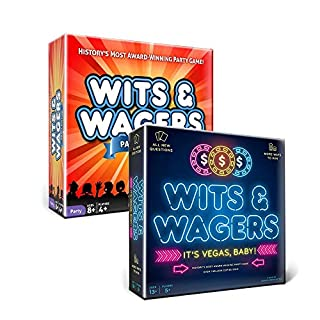 North Star Games Wits and Wagers Party Edition and Las Vegas Edition - Includes Both Games!