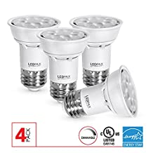 LEDPAX PAR16 LED Light Bulbs Dimmable, 6.5W (50W equivalent), 3000K, 500 Lumens, CRI 80, Standard E26 Base, Indoor Outdoor LED Flood Light, 4 Pack, UL Listed, Energy Star Certified