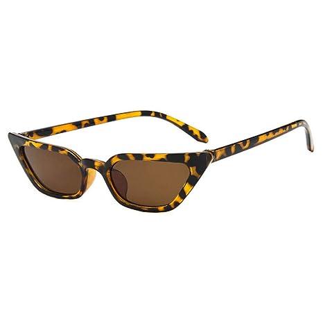 Yangjing-hl Gafas de Sol Vintage para Mujer Gafas de Sol ...