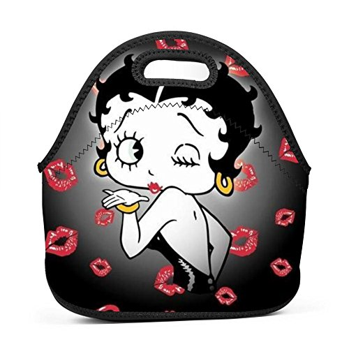 80s Boxes Lunch (69HUANGAVANEW Betty Doll Boop Adults/Men/Women/Kids Bento Boxes Rugged Lunch Bags Traval School Work Lunchbox Multi-fonction Handbag)