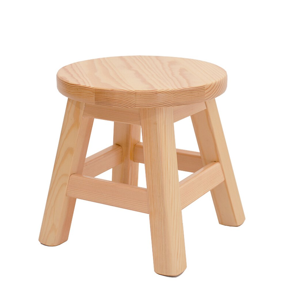 TangMengYun Pine Wood Solid Wood Stool, Simple Leisure Fishing Stool, Children'Schanging His Shoes Stool Leisure Stool Indoor Outdoor Stool