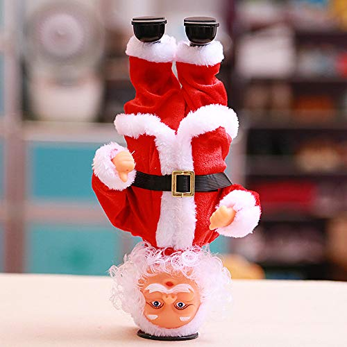 LtrottedJ Handstand Dancing Santa Claus Electric Decoration for Toddler Children Kids Toy]()