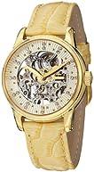 Stuhrling Original Women's 576.1135E15 Vogue Audrey Stella Skeleton Swarovski Crystal Gold Tone Watch